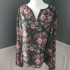 WAYF | Nordstrom floral blouse sz large